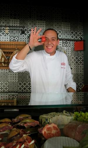 Matteo Chiappini, o jovem chef do restaurante Rosso, no bairro de Aventino, em Roma
