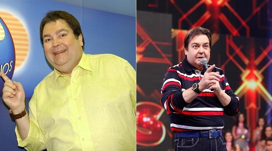 O apresentador Fausto Silva recorreu a cirurgia para emagrecer