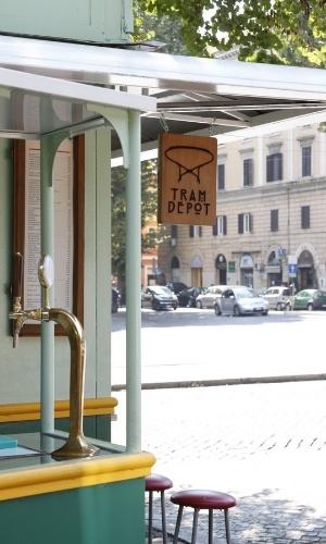 O quiosque Tram Depot foi considerado pelos críticos gastronômicos um dos protagonistas da culinária pop de qualidade na cidade eterna