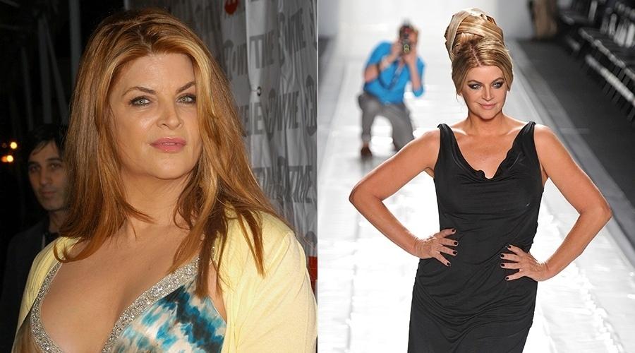 Kirstie Alley perdeu 45 quilos