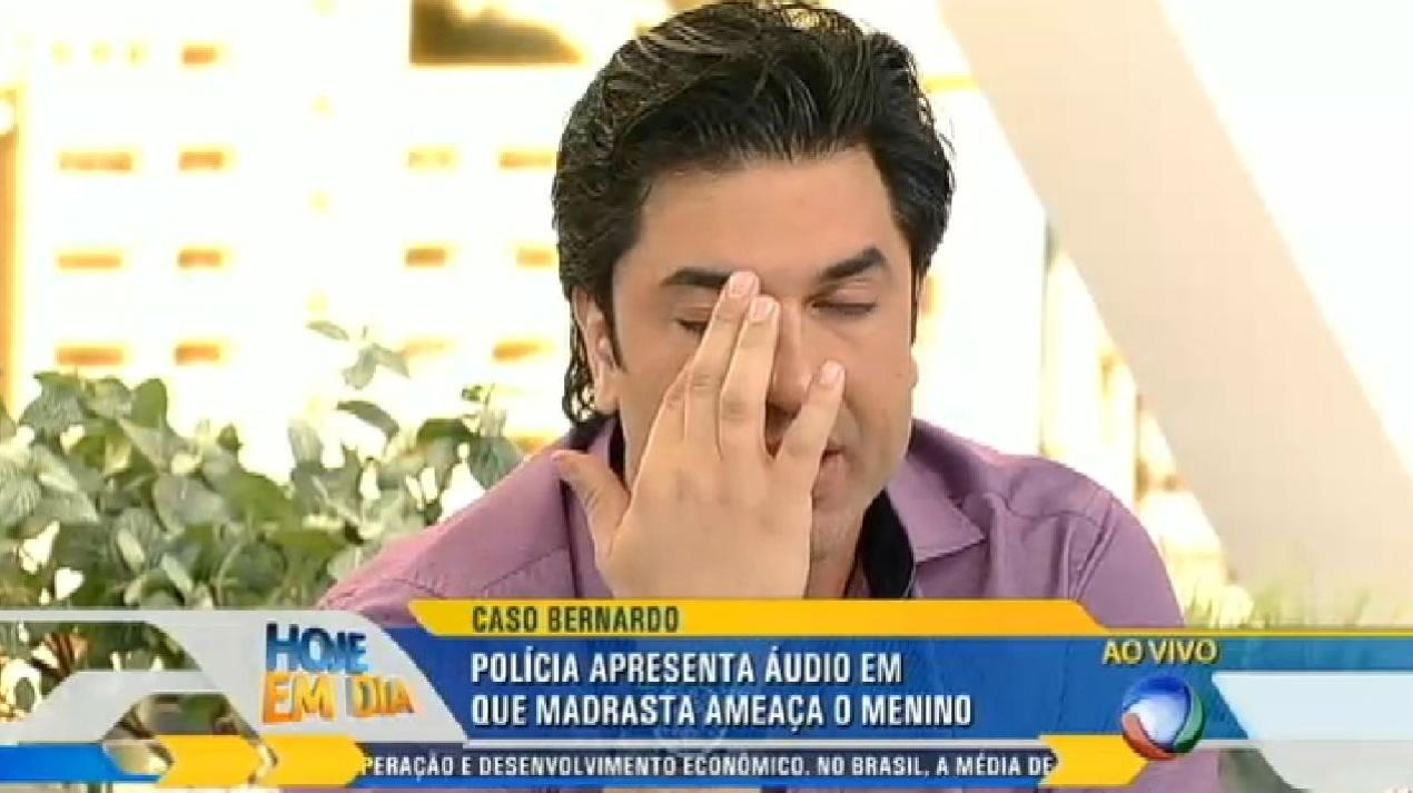 28.ago.2014 - Áudio com gritos de socorro do menino Bernardo emociona Edu Guedes