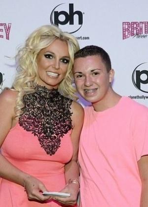 Britney Spears com o fã David LeCours em Las Vegas, nos Estados Unidos