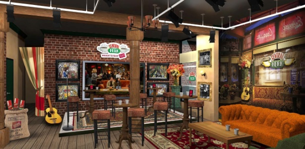 """Esquema do modelo do café Central Perk, da série """"Friends"""", que será recriado em Nova York"""