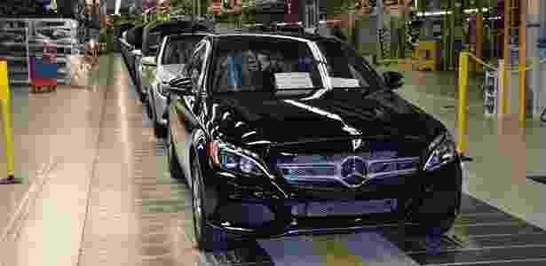 Produção do Mercedes Classe C também é feita em Tuscaloosa (EUA) - Divulgação - Divulgação