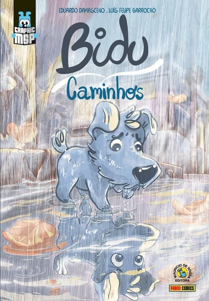 """Capa da graphic novel """"Bidu - Caminhos"""", de Eduardo Damasceno e Luís Felipe Garrocho"""
