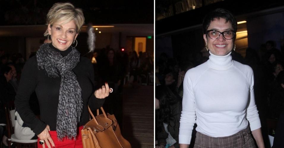 29.ago.2014 - Andréa de Nóbrega e Sandra Annenberg assistem à 19ª edição do Fashion Weekend Kids, no Shopping Cidade Jardim, na zona sul de São Paulo, nesta sexta-feira