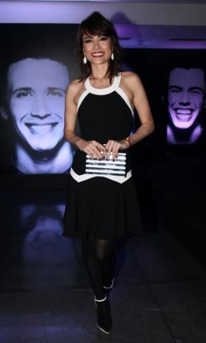 29.ago.2014 - Maria Casadevall prestigia a comemoração de uma rede de academias de ginástica, na casa de shows HSBC Brasil