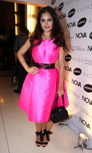 """1.set.2014 - Jessika Alves marca presença na festa da revista """"Nova"""" promovida pelo cabeleireiro Marco Antonio di Biaggi, em São Paulo"""
