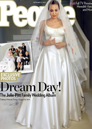 """Capa da revista """"People"""" traz Angelina Jolie de noiva"""