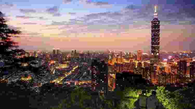 O fim da temporada das monções torna o clima mais agradável em boa parte da Ásia, como em Taipei, na China - Getty Images - Getty Images
