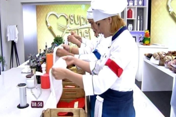 """2.set.2014 -  Finalistas do """"Super Chef Celebridades"""" descobrem os ingredientes que usarão para os pratos da última prova do quadro"""