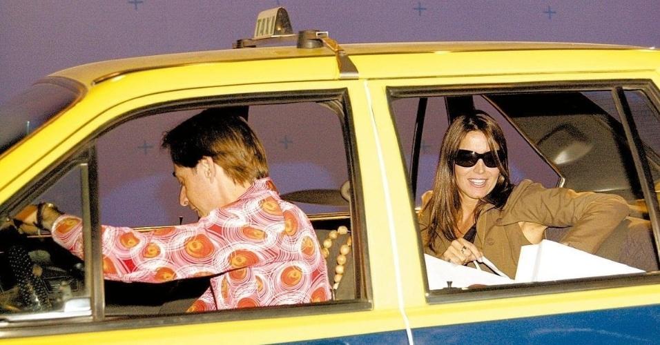 """3.set.2004 - Pedro Cardoso e Malu Mader em cena de """"A Grande Família"""""""