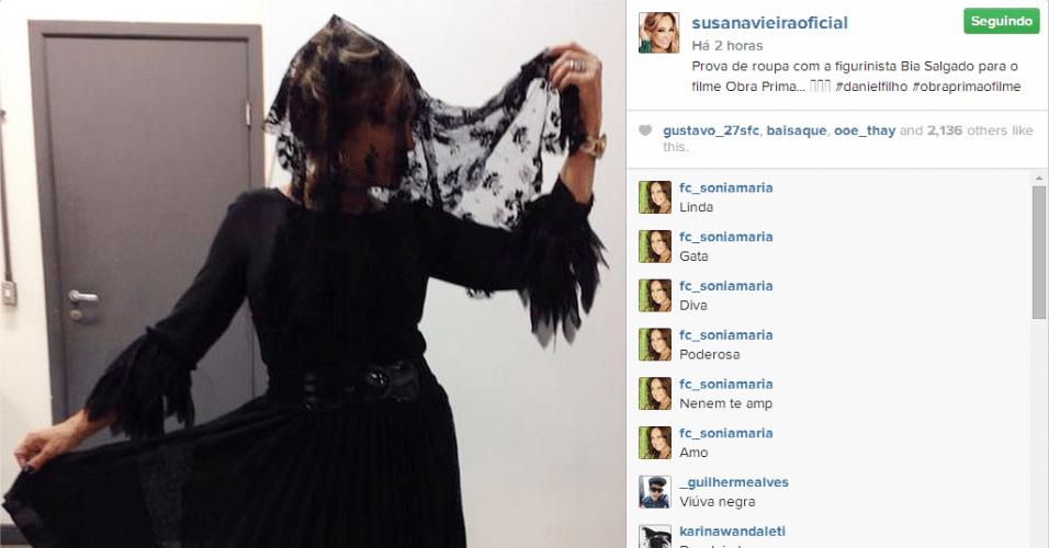 3.set.2014 - Susana Vieira mostra seu figurino estilo