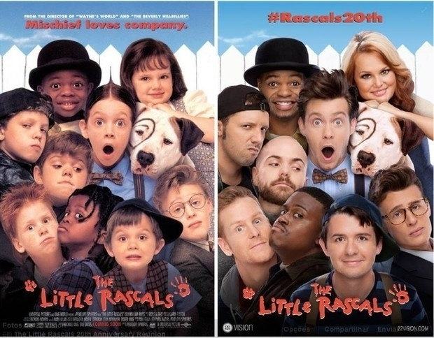 """Após 20 anos de sucesso, os atores do filme """"Os Batutinhas"""" se encontraram para refazer o pôster e algumas cenas da comédia"""