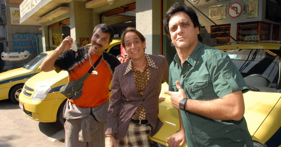"""Pedro Cardoso, Evandro Mesquita e Lucio Mauro Filho em cena de """"A Grande Família"""""""