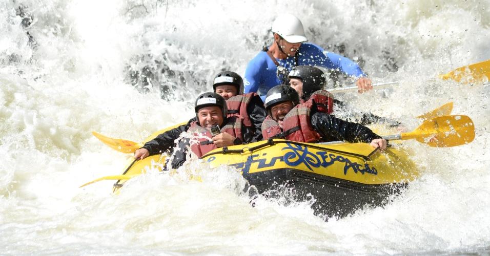 Rafting e tirolesa de 110 metros desafiam turistas em Brotas