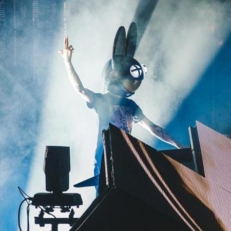 Deadmau5 no iTunes Festival 2014, em Londres - Reprodução/Facebook/iTunes