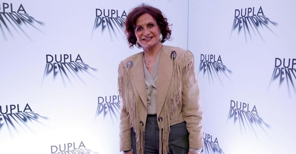 """4.set.2014 - Rosamaria Murtinho na coletiva de imprensa do seriado """"Dupla Identidade"""""""