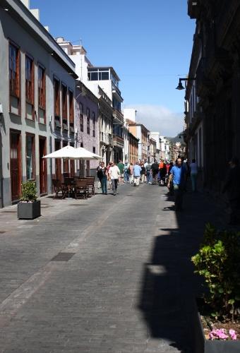 A grande parte das ruas do centro histórico de La Laguna é reservada apenas a pedestres
