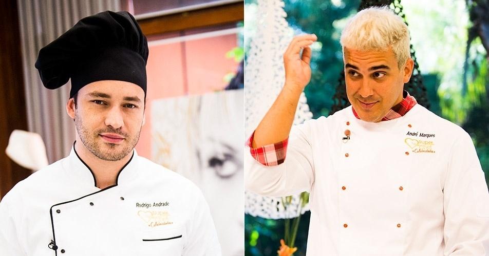 """Ana Maria confundiu os nomes de André Marques e Rodrigo Andrade na estreia do """"Super Chef Celebridades"""" de 2014"""