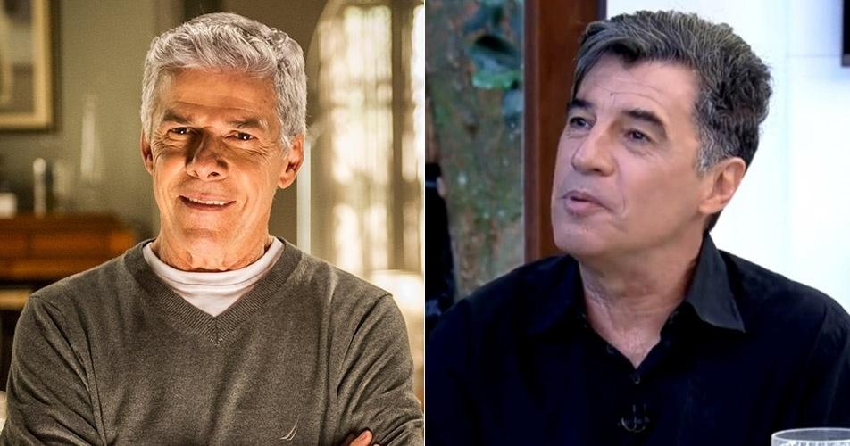 """Ao anunciar Paulo Betti como seu convidado, Ana Maria trocou o nome do ator pelo pelo do colega de cena José Mayer, da novela """"Império"""""""