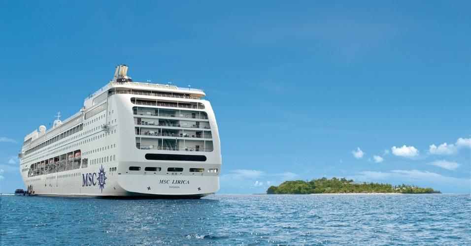 MSC LIRICA: O navio MSC Lirica tem 795 cabines capazes de comportar 2.199 hóspedes. Entre novembro de 2014 e março de 2015 fará cruzeiros com saída de Santos e Rio de Janeiro e visitas a destinos como Búzios (RJ), Ilhabela (SP), Angra dos Reis (RJ), Cabo Frio (RJ) e Salvador (BA).
