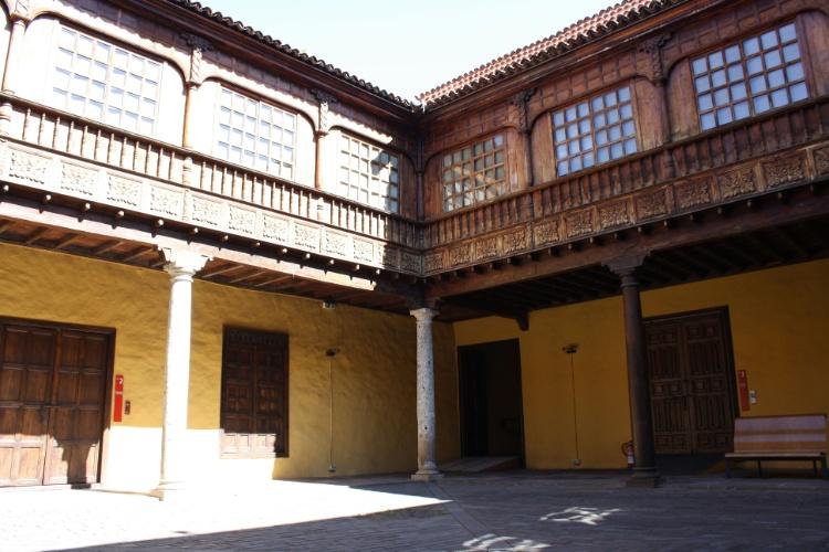 Pátio interior do palácio Lercaro, em La Laguna, onde está localizada uma das sedes do Museu de História e Antropologia