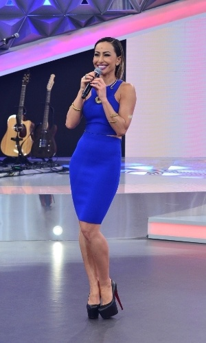 Sabrina Sato recebe Marcos Mion e Luan Santana em seu programa na Record