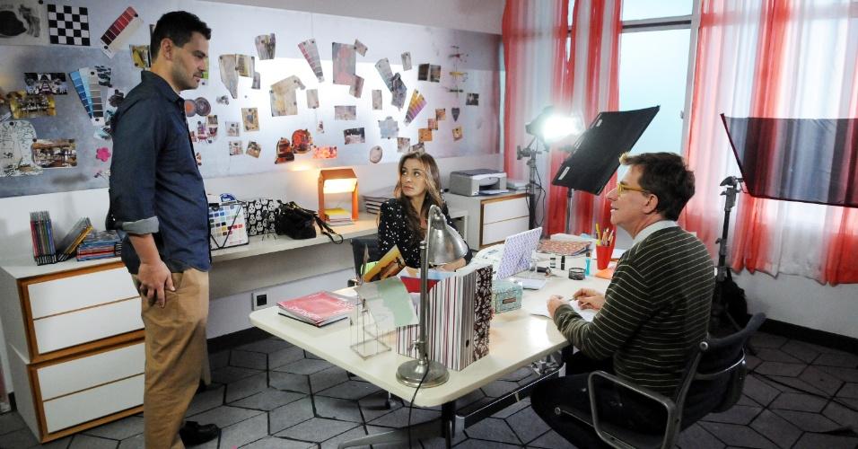 05.set.2014- Carmo Della Vechia e Luís Salém também estão no elenco da primeira temporada da série que estreia no dia 25 de setembro no GNT