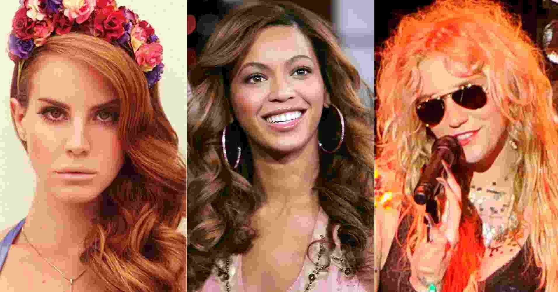 Lana Del Rey, Beyoncé e Ke$ha - Divulgação/Getty Images/Montagem/UOL