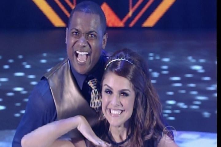 """7.set.2014 - No rock, Paloma Bernardi conquista jurados na """"Dança dos Famosos"""""""