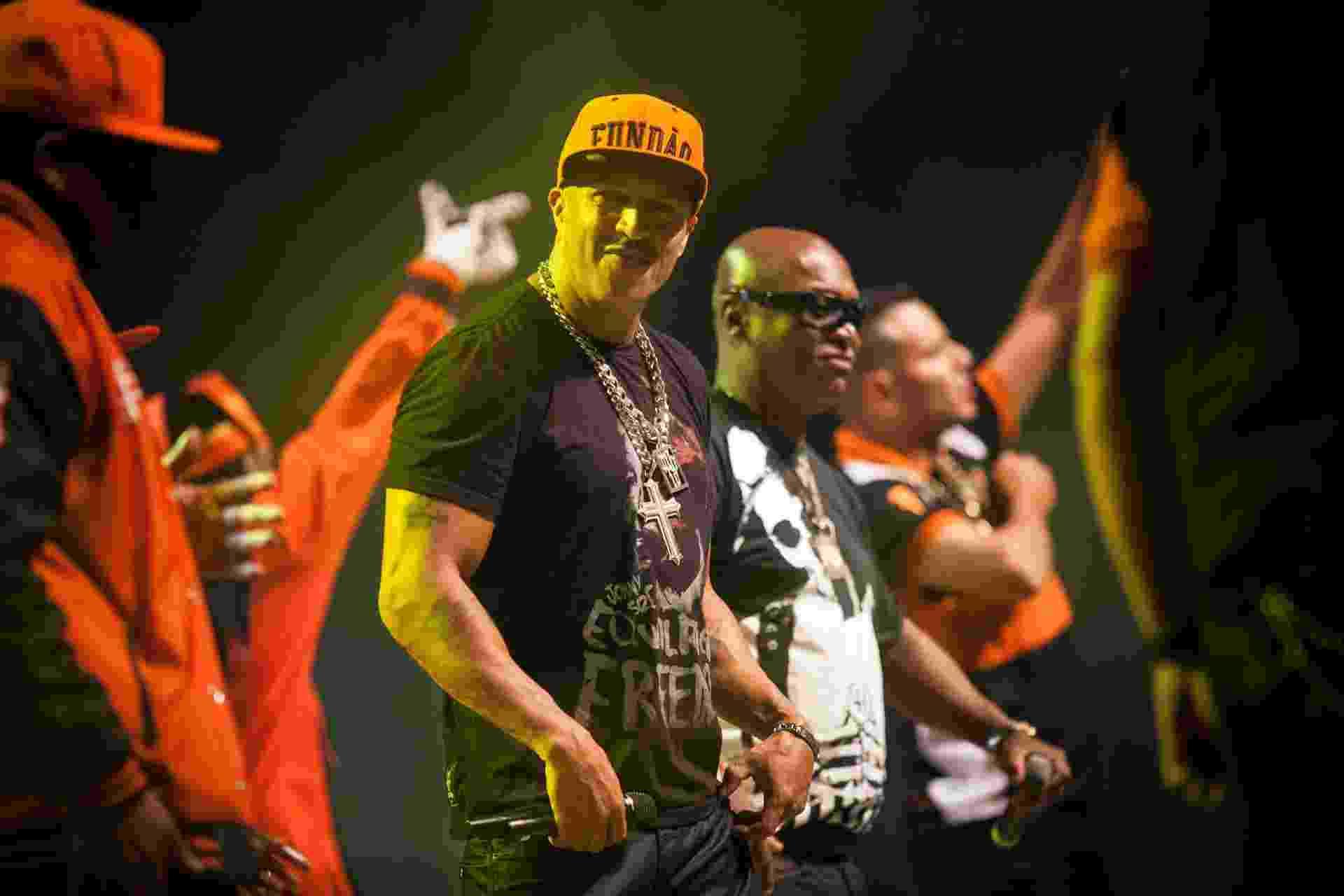 7.set.2014 - Show de comemoração dos 25 anos de carreira dos Racionais Mcs no Citibank Hall, zona sul da cidade - Rodrigo Capote/UOL