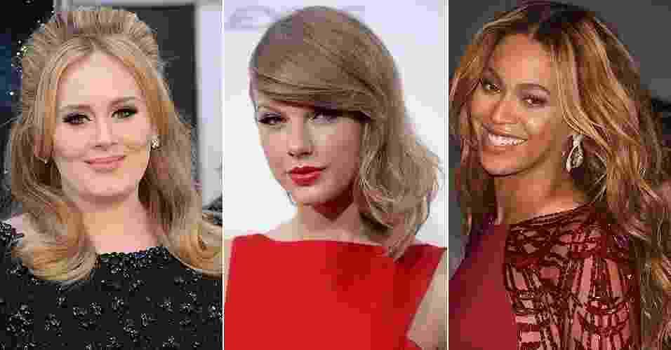 Adele, Taylor Swift e Beyoncé - Getty Images