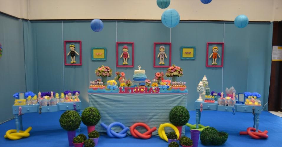 Aniversário com o tema festa na piscina da Vintage Party Design (www.facebook.com/VintagePartyDesign)