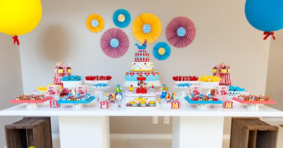Festa de aniversário com o tema circo, feita por Kelly Pinheiro, da Bella Fiore