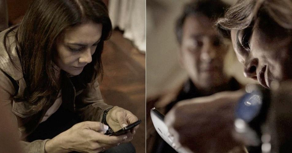 Rosa e Pedro encontram o celular de Bruno e conseguem ligá-lo
