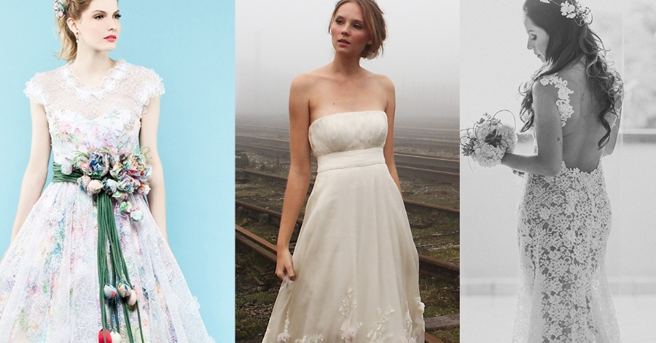 vestidos florais noivas