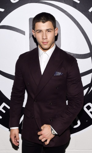 9.set.2014 - O cantor Nick Jonas marca presença no Fashion Rocks, em Nova York, nos Estados Unidos