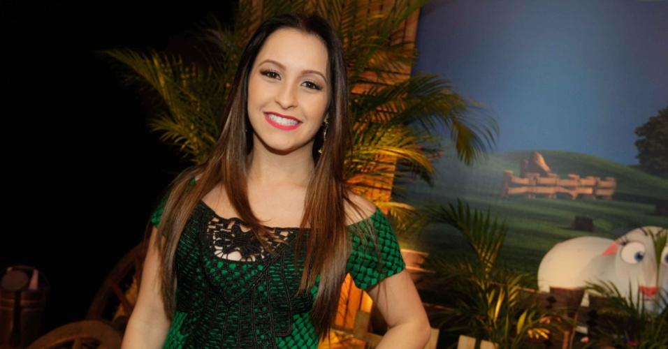 """10.set,2014 - A atriz Carla Diaz durante coletiva de imprensa da sétima edição de """"A Fazenda"""""""