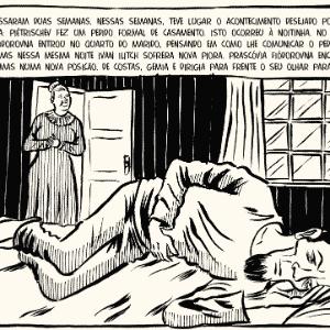 """Imagem da HQ """"A Morte de Ivan Ilitch"""" (Peirópolis) - Divulgação"""