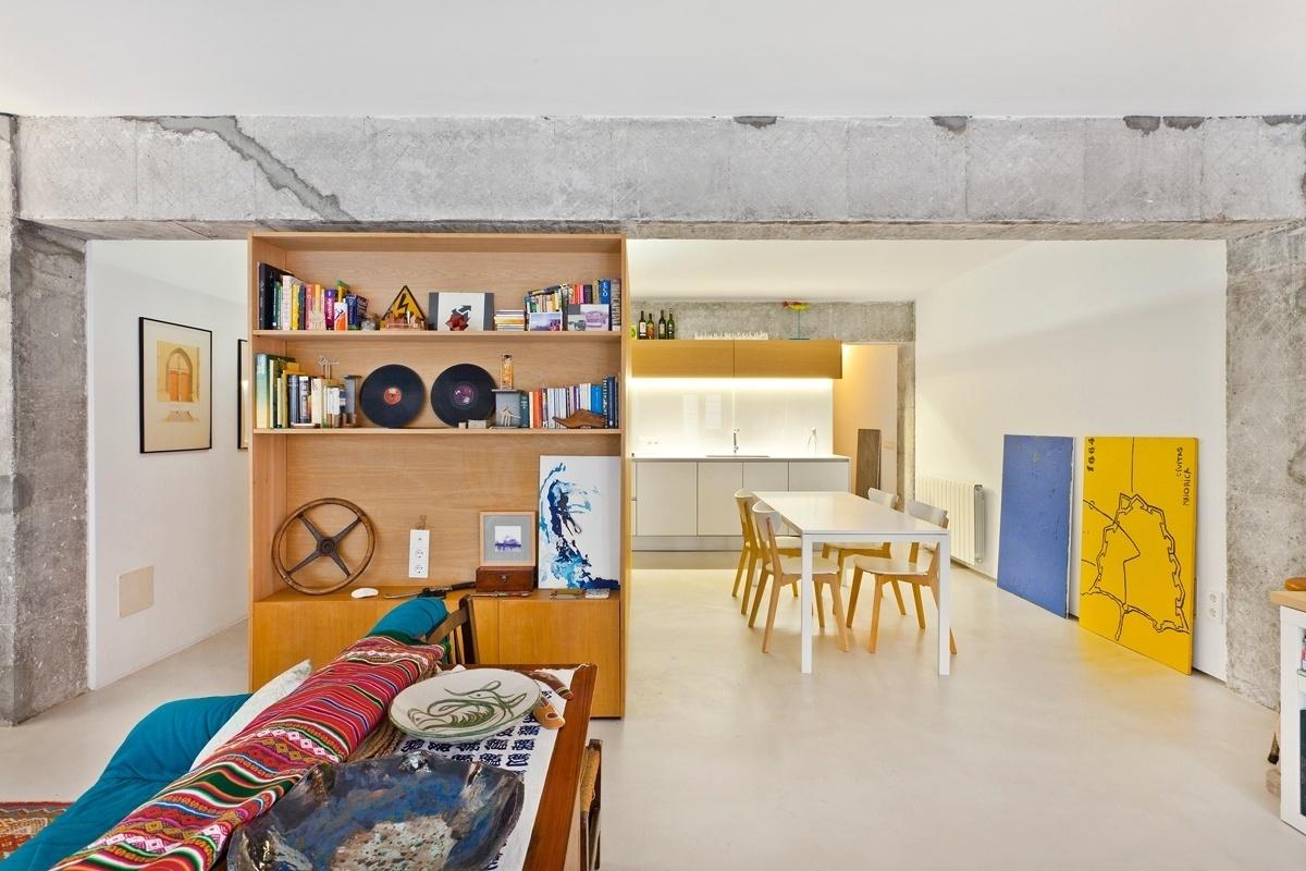 O apartamento Palma fica num edifício construído nos anos 1960, com estrutura