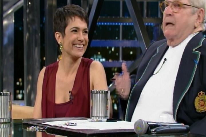 """10.set.2014 - Sandra Annenberg foi ao """"Programa do Jô"""" falar sobre sua nova atração """"Como Será?"""" e fez uma declaração ao seu marido, Ernesto Paglia, nesta quarta-feira"""