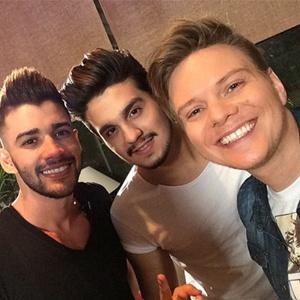 Michel Teló com cantores Gusttavo Lima e Luan Santana