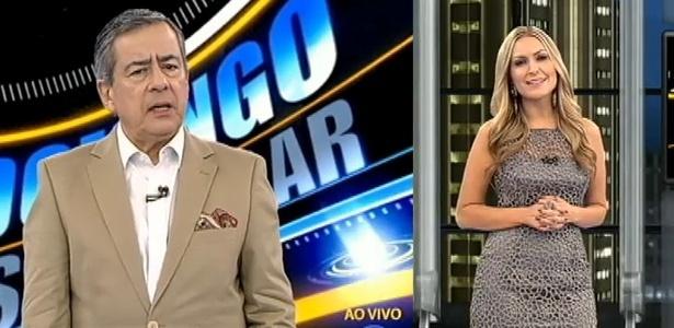 """Paulo Henrique Amorim e Thalita Oliveira apresentam o """"Domingo Espetacular"""" da Record"""