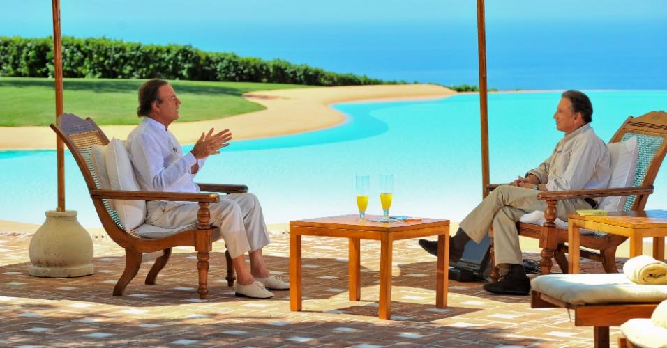 Piscina na casa do cantor Julio Iglesias em Marbella