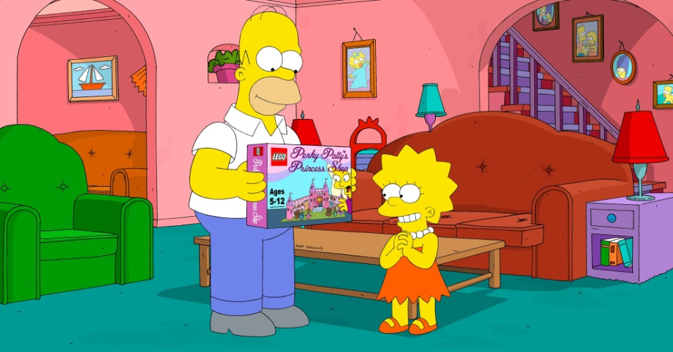 "Episódio ""Brick like me"" de ""Os Simpsons"""
