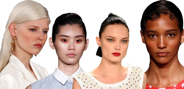 A maquiagem natural foi destaque na Semana de Moda de NY - Fotomontagem UOL/Getty Images