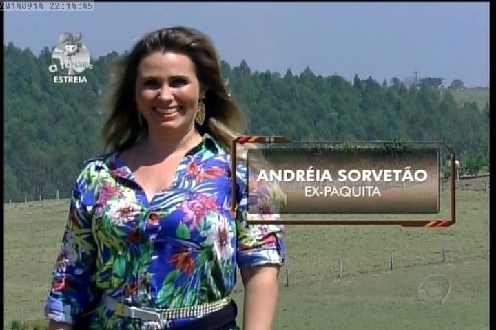 """14.set.2014 - Andréia Sorvetão em """"A Fazenda 7"""""""