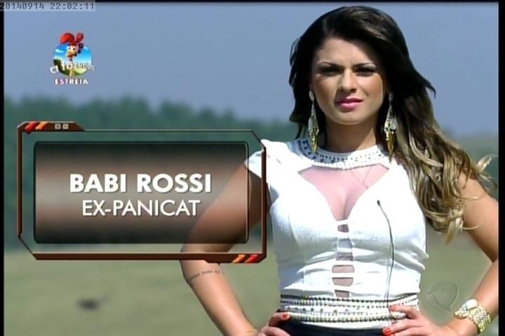 """14.set.2014 - Babi Rossi é apresentada como nova peoa de """"A Fazenda 7"""""""