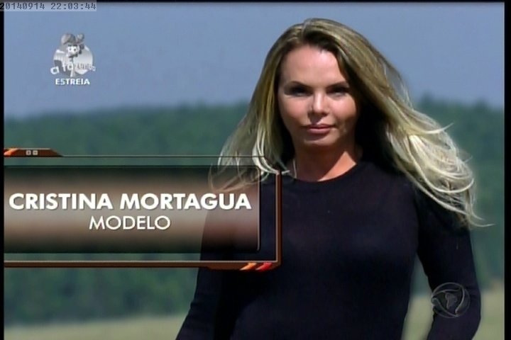 """14.set.2014 - Cristina Mortágua é apresentada em """"A Fazenda 7"""""""